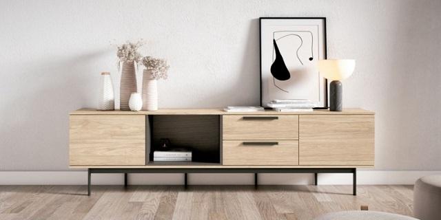 Mueble de tv roble noceto y márbol