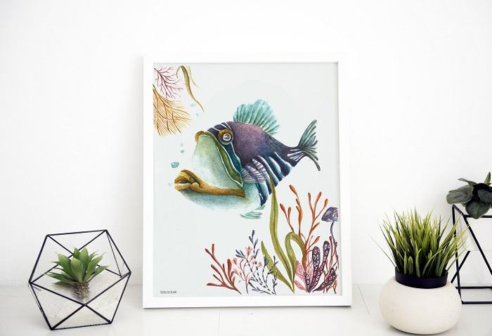 Cuadro de un pez de colores