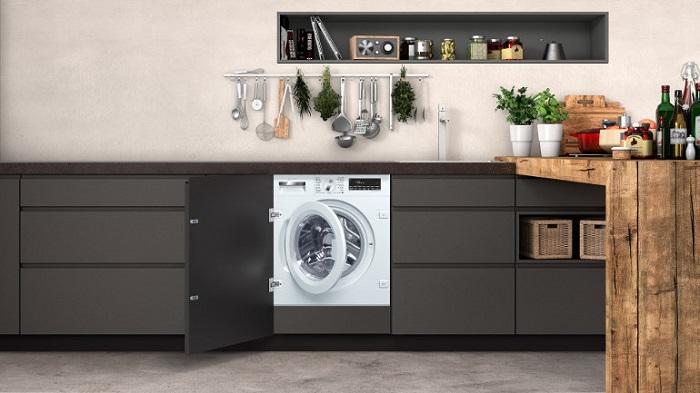 Lavadora oculta cocina